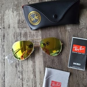 Ray-ban aviator Gold mirror sunglasses